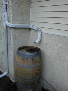 The Downspout And I Thought This Alcove Would Create A Perfect Spot For Barrel To Tuck Into But D Have Wrap Gutter Around Corner